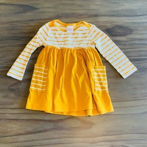 Hanna Andersson yellow striped dress